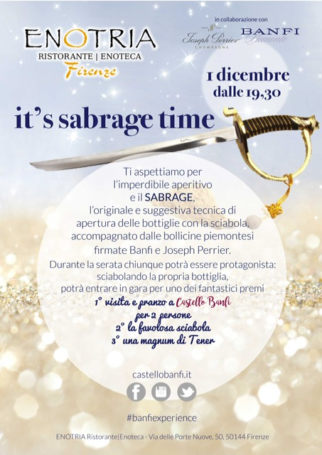 It's Sabrage Time! – 1 Dicembre 2016